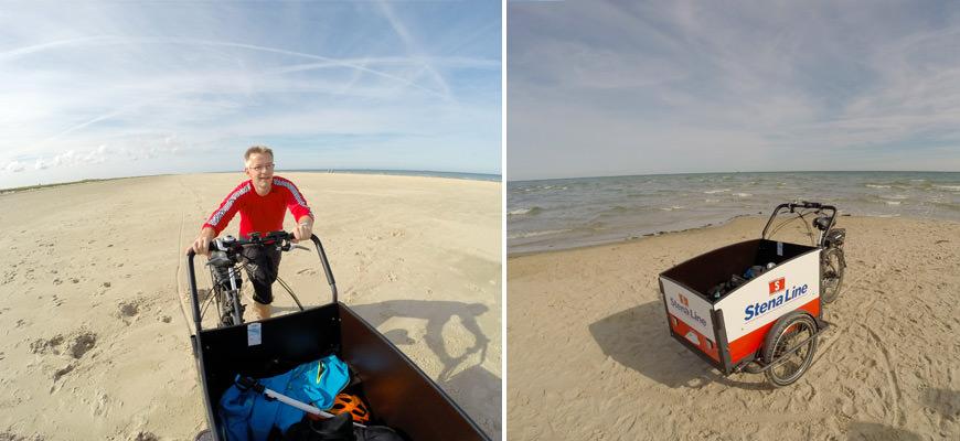 Med sykkel på stranden ut til Grenen