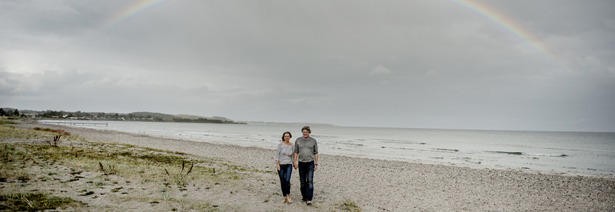 Romantisk tur på stranda