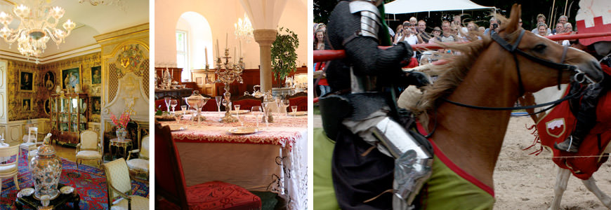 Kongelige møbler og middelalderstemning på Voergaard.