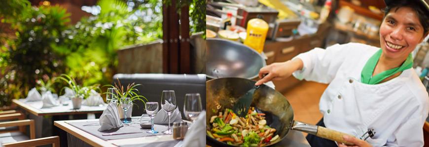 Restaurant med kokk