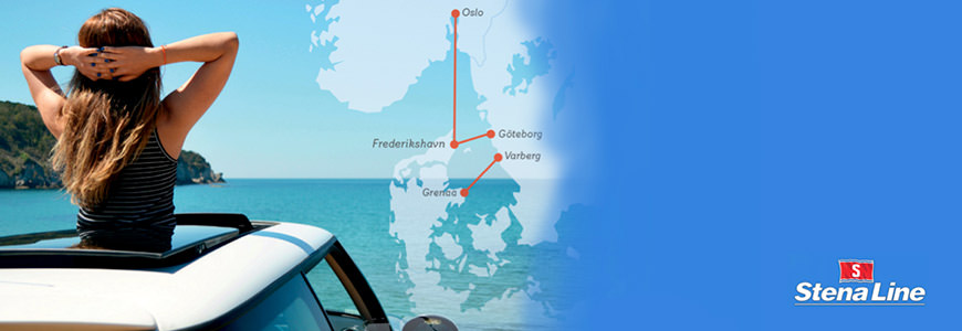Kart over Skandinavia